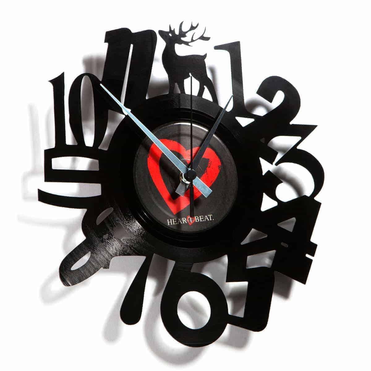 NUMBERS #1 orologio con disco in vinile
