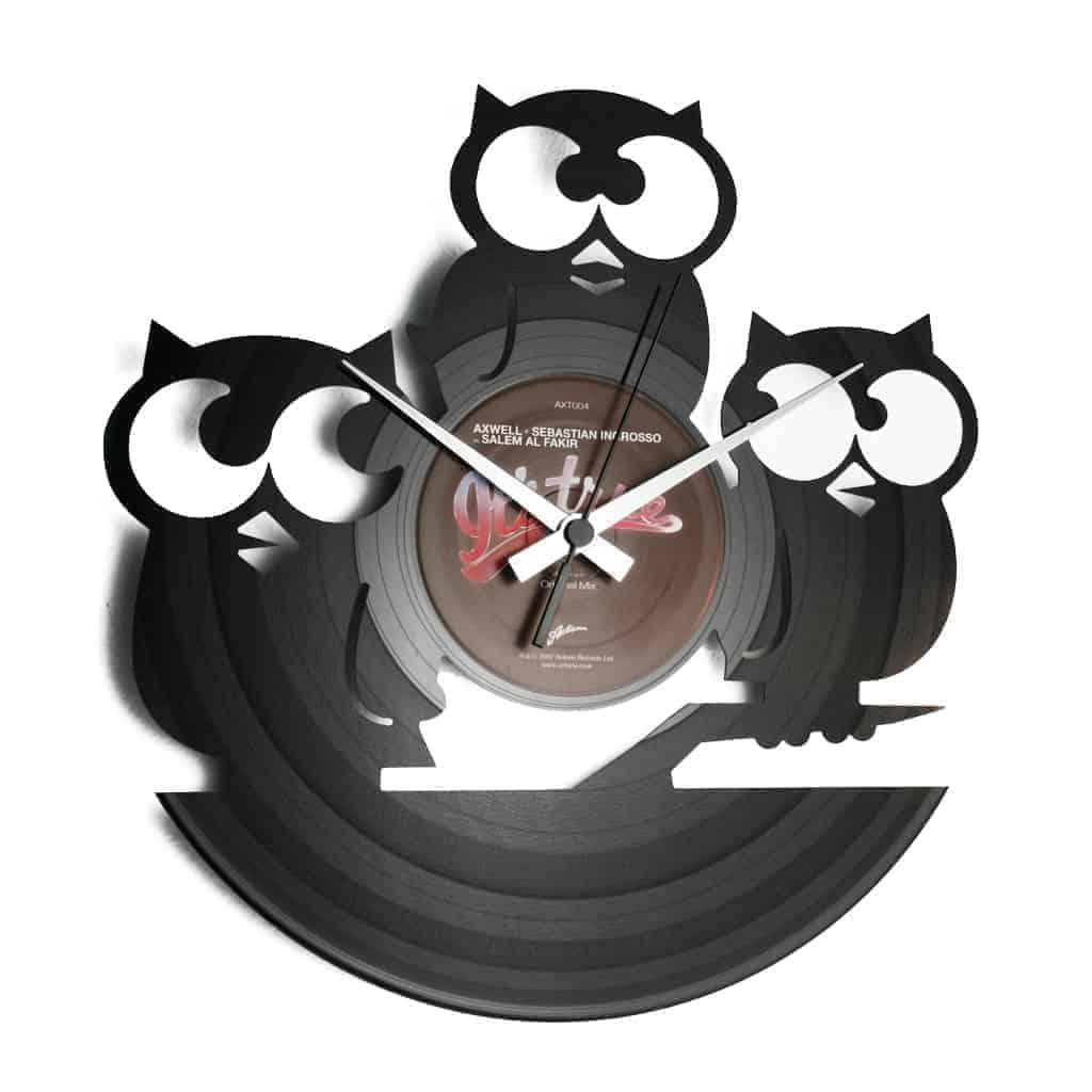 TRE CIVETTE SUL COMO' orologio con disco in vinile