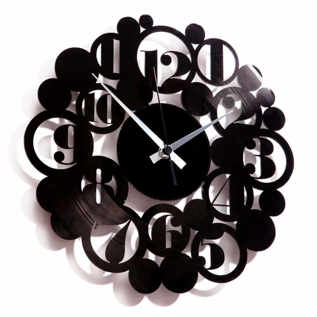 BODONI BUBBLES orologio con disco in vinile