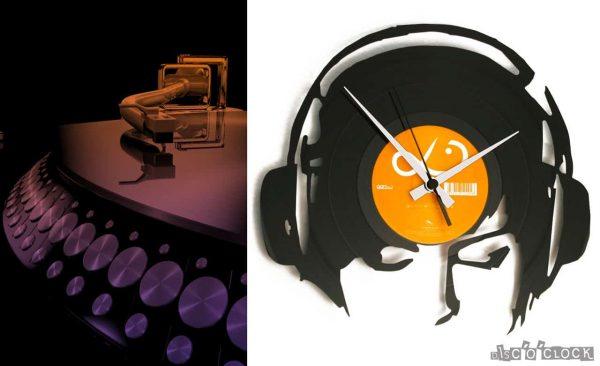 DJANE@WORK orologio con disco in vinile