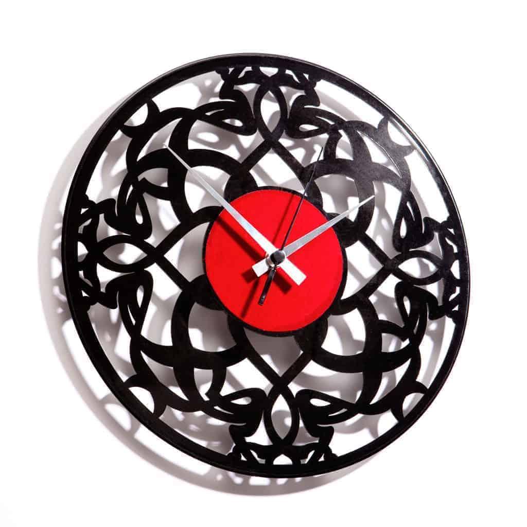 art deco vinyl record clock