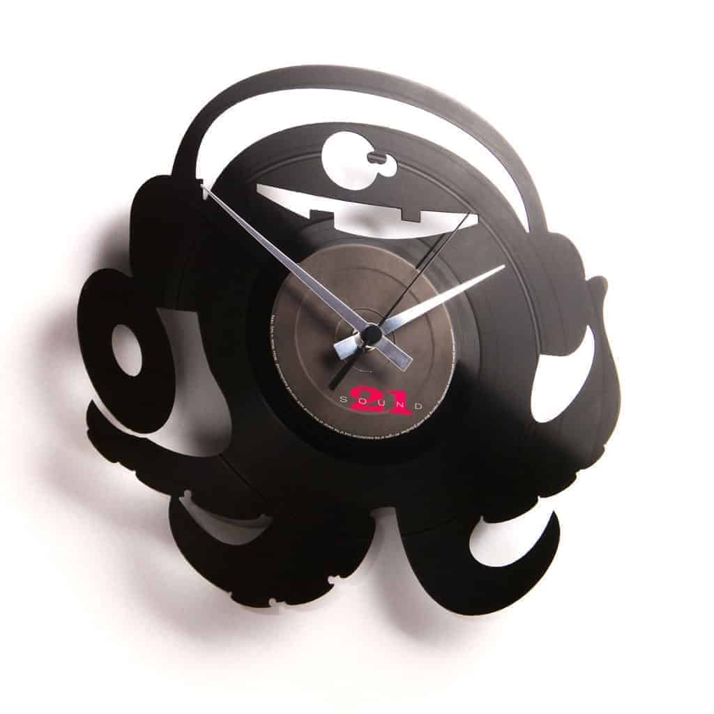 octopus vinyl record clock