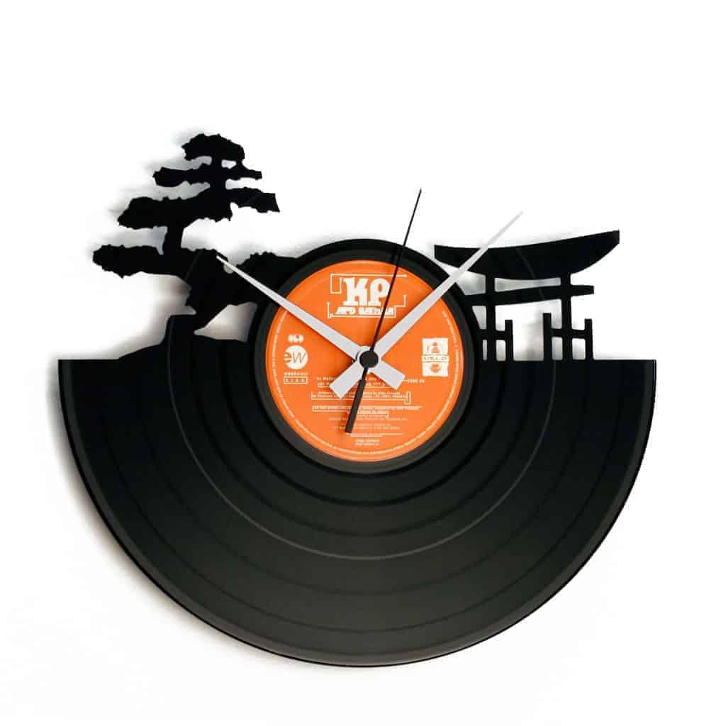 SUNSET orologio con disco in vinile