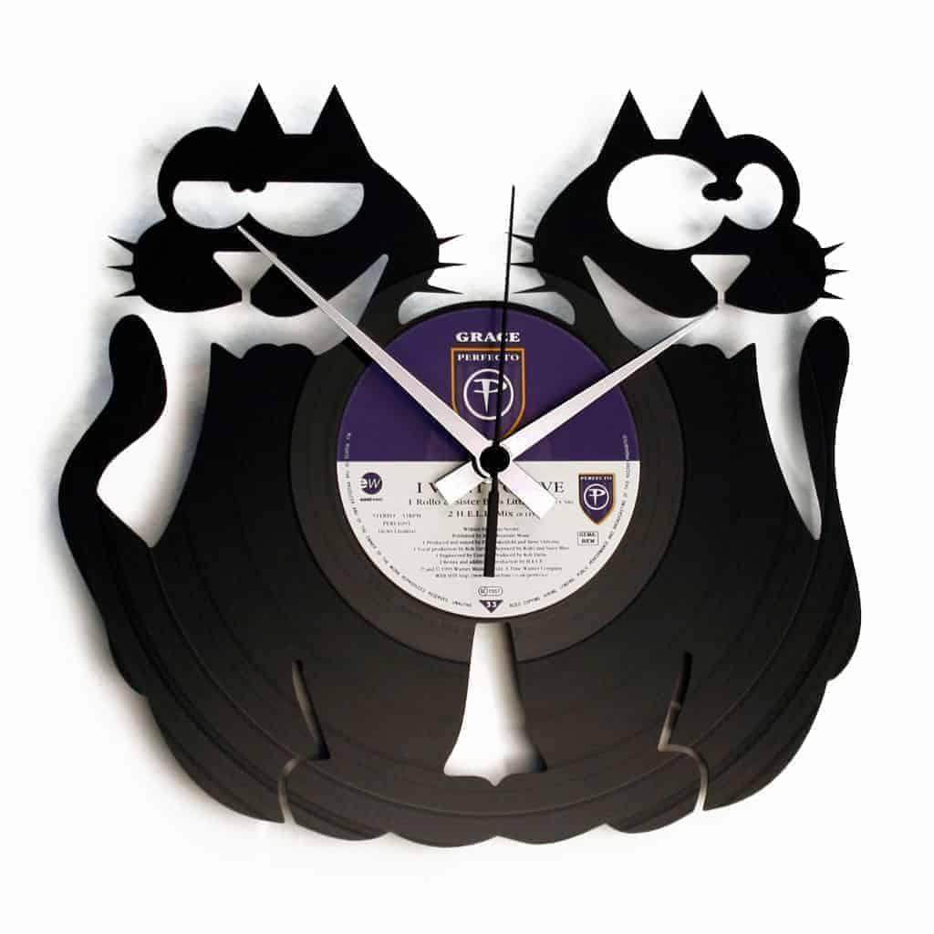 CATS! orologio con disco in vinile