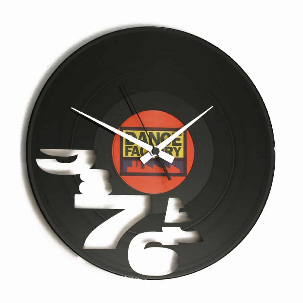 NEVER 9 TO 5 AGAIN orologio con disco in vinile