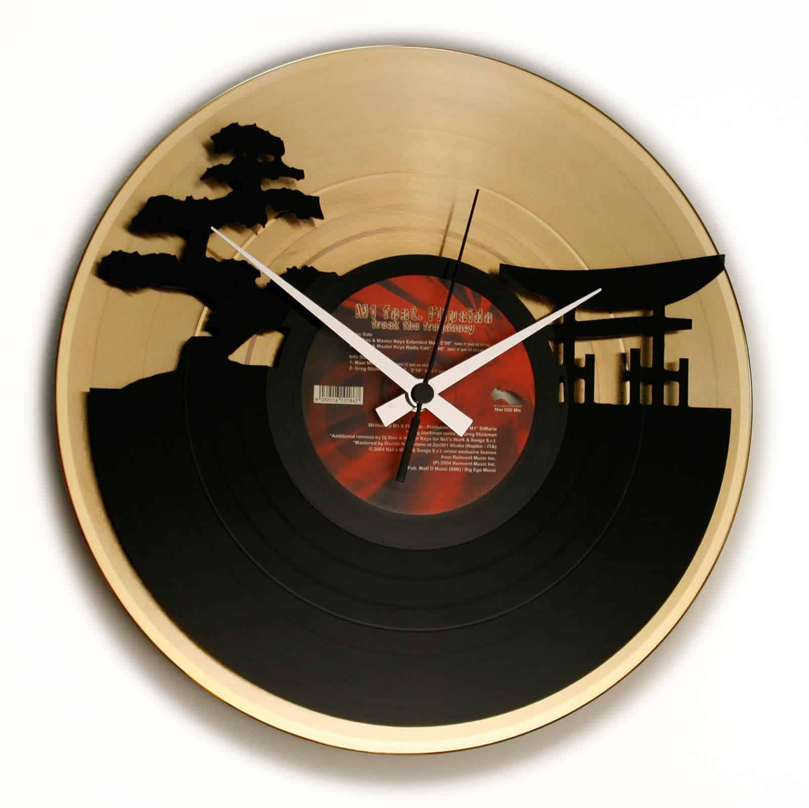 SUNSET Orologio in Vinile con disco ORO o ARGENTO