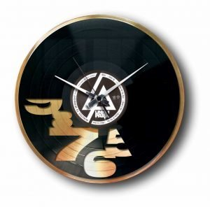 designer gold record clock