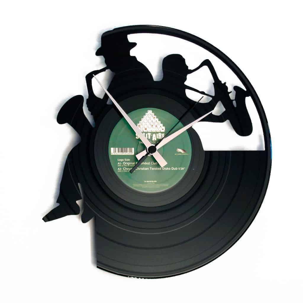 SAX orologio con disco in vinile