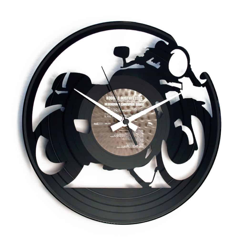 CAFE' RACER orologio con disco in vinile