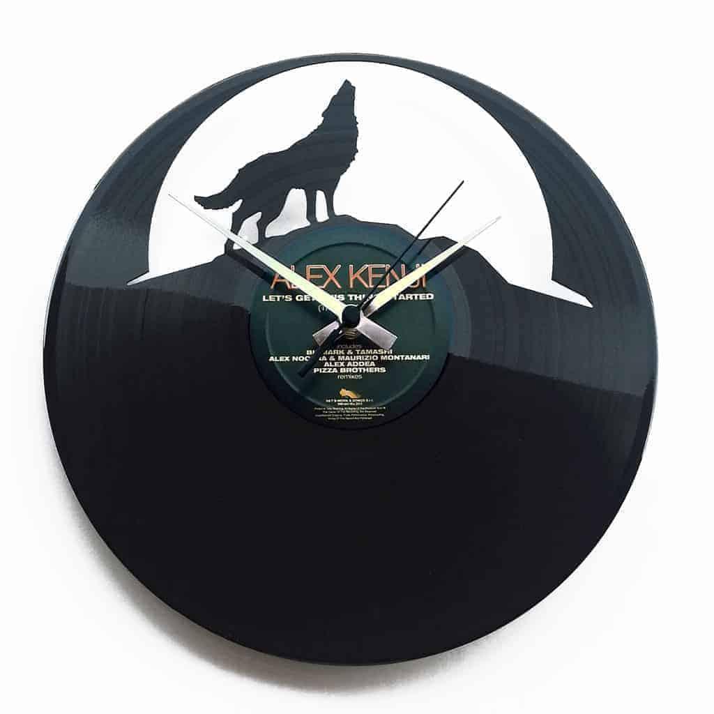 THE WOLF orologio con disco in vinile