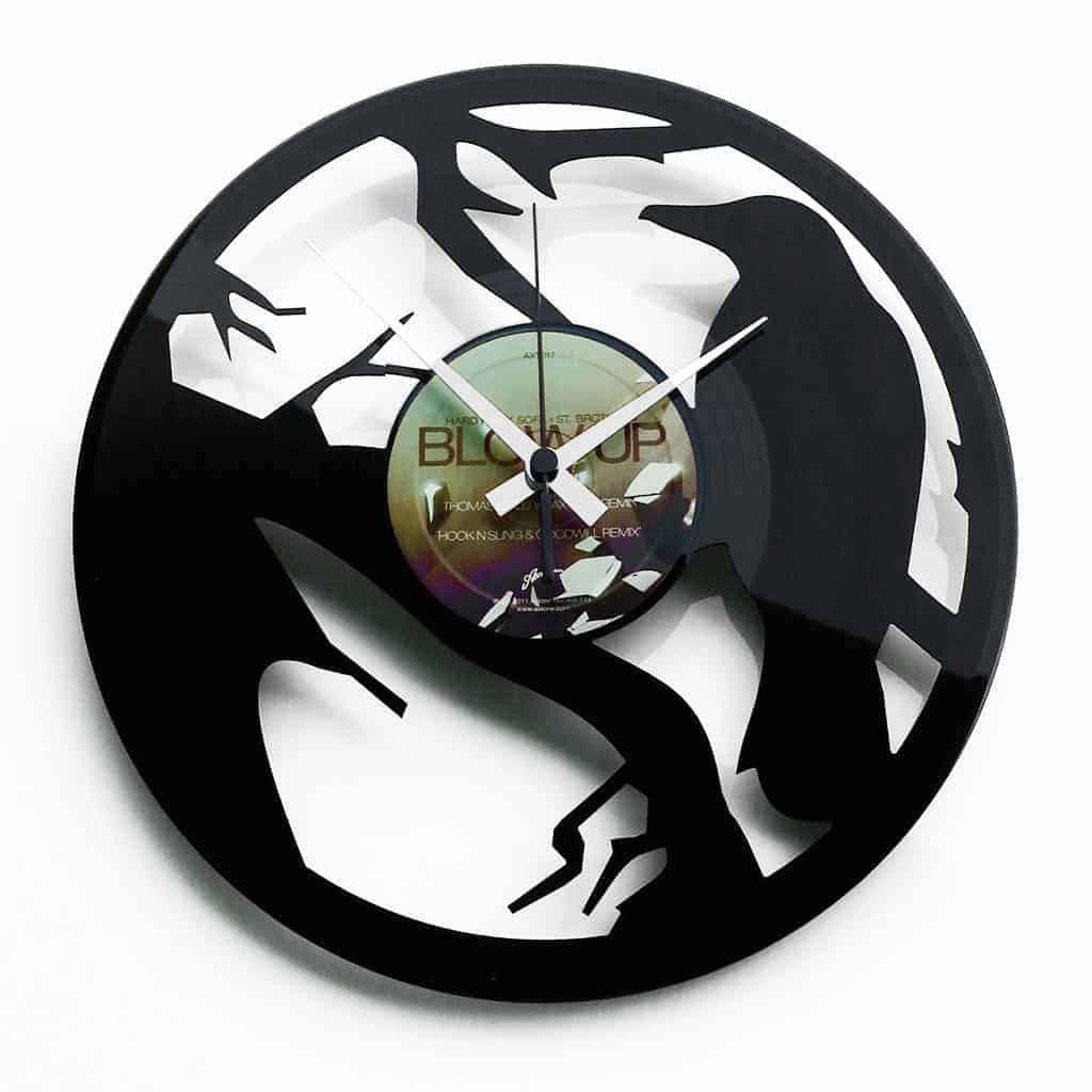 THE CROW orologio con disco in vinile