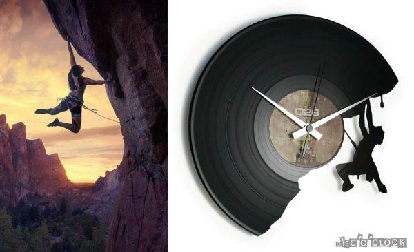 THE CLIMBER orologio con disco in vinile