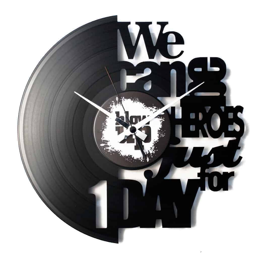 HEROES orologio con disco in vinile