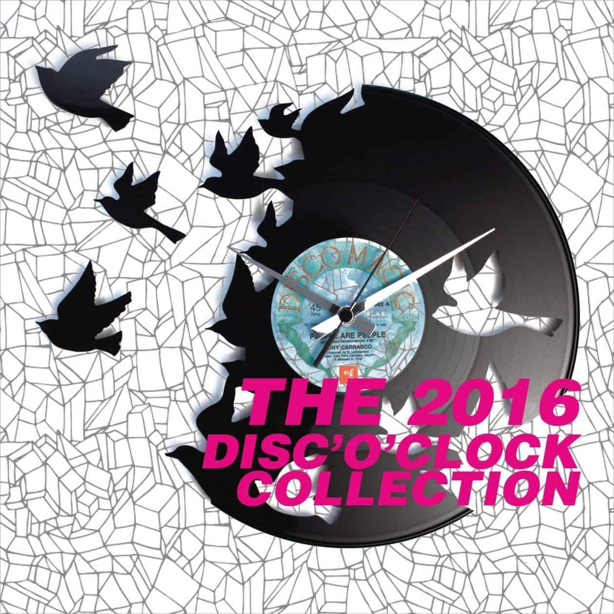 DISCOCLOCK OROLOGI IN VINILE COLLEZIONE 2016