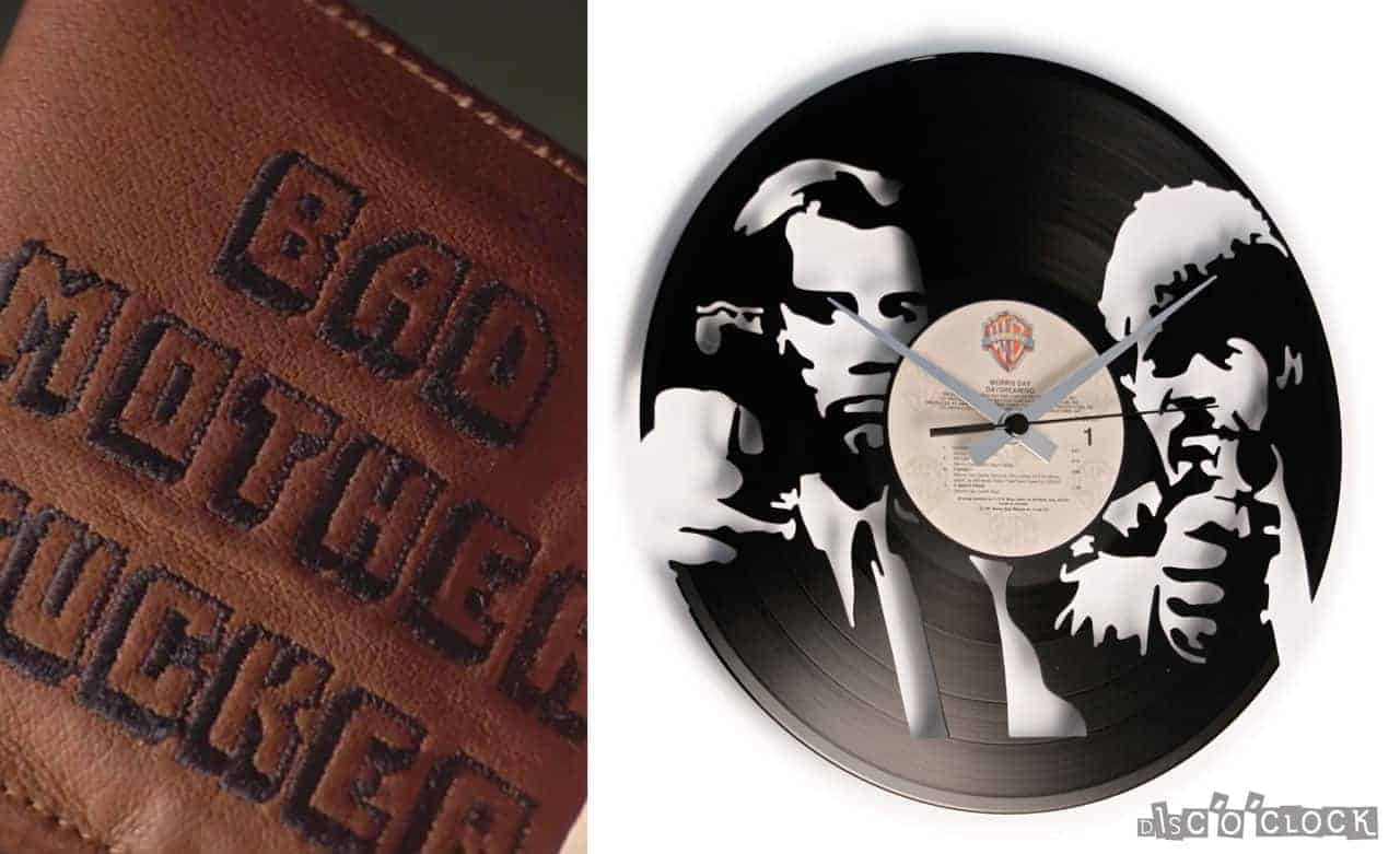 orologio da parete con disco in vinile pulp fiction