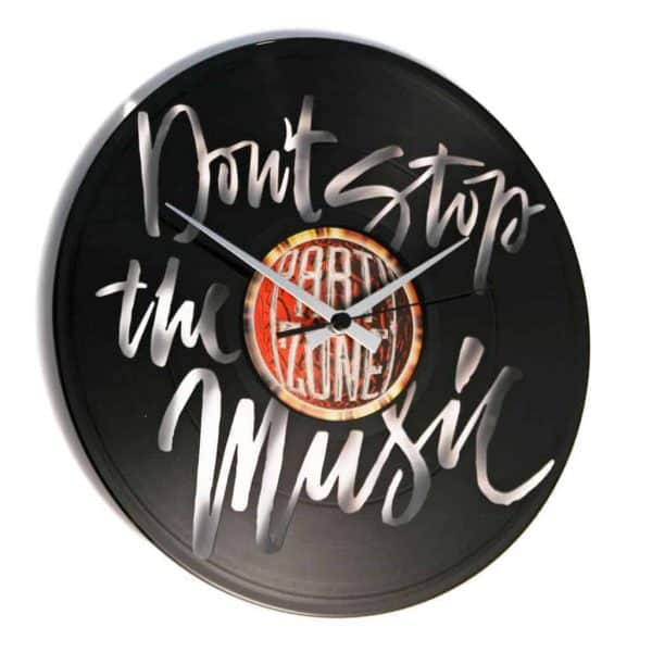 DON'T STOP THE MUSIC orologio con disco in vinile