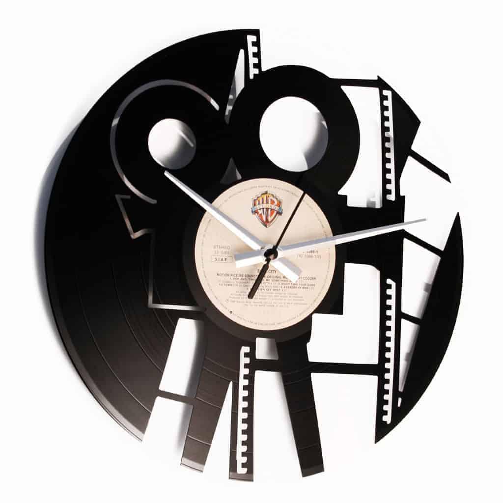 ACTION! orologio con disco in vinile
