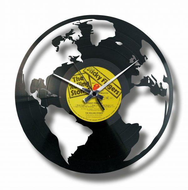 THE EARTH orologio con disco in vinile