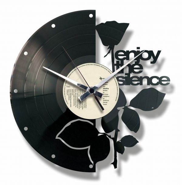 ENJOY THE SILNCE orologio con disco in vinile