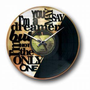 imagine john lennon golden vinyl record wall clock