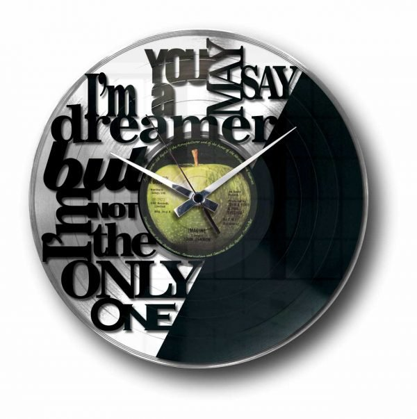 girls just want to have fun silver vinyl record wall clock