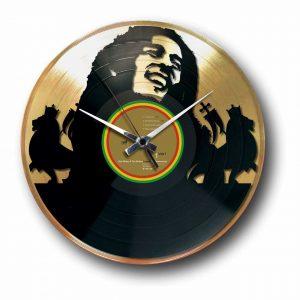 bob marley golden vinyl record wall clock