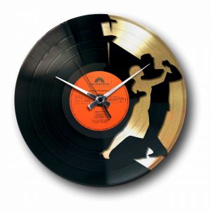 tango golden vinyl record wall clock