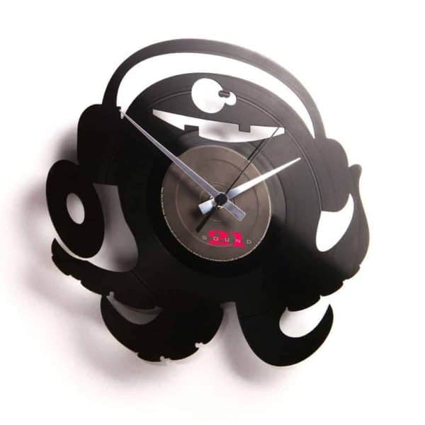 octopus vinyl record clock