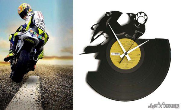 orologio da parete con disco in vinile moto gp superbike