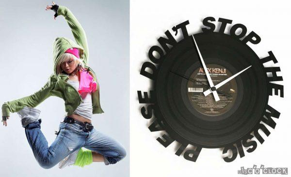 orologio da parete con disco in vinile rihanna please don't stop the music