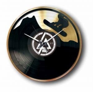 snowboard gold record clock