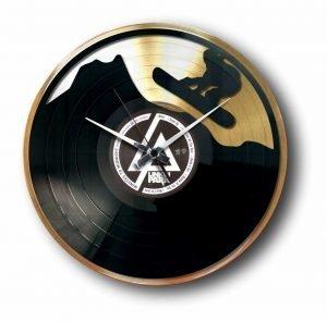 snowboard gold record clock