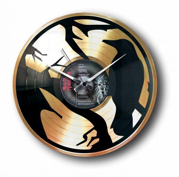crow gold record clock