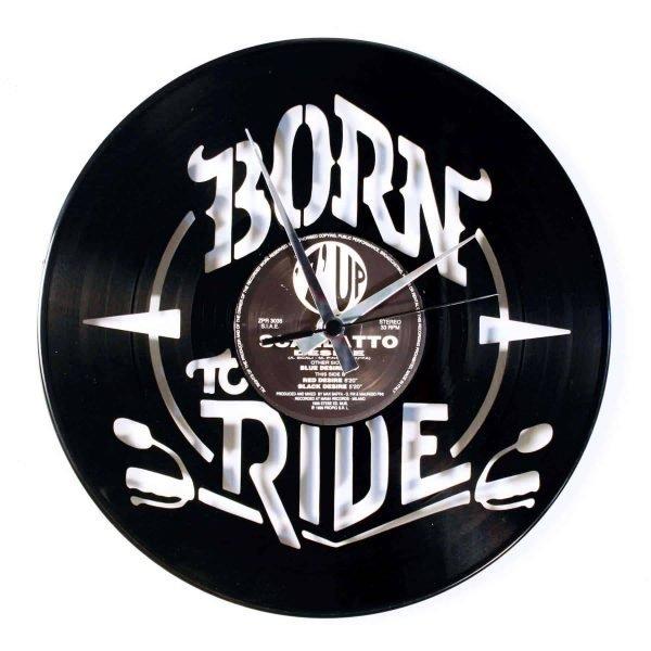 born to ride record clock