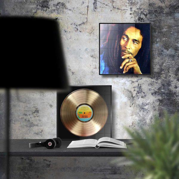 Bob Marley No Woman No Cry Golden Vinyl Record