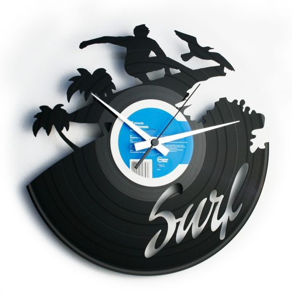 SURF orologio con disco in vinile