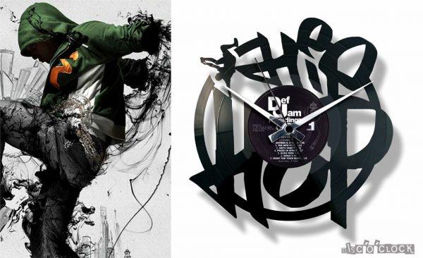 hip hop record clock